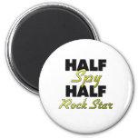 Half Spy Half Rock Star 2 Inch Round Magnet