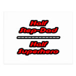 Half Step-Dad Half Superhero Postcard