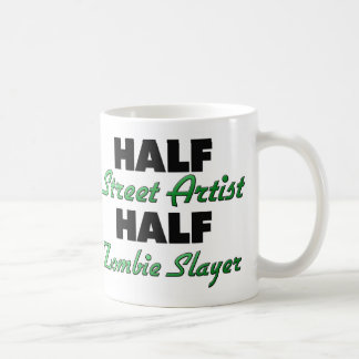 Half Street Artist Half Zombie Slayer Mugs