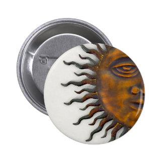 Half Sun Face Design Buttons