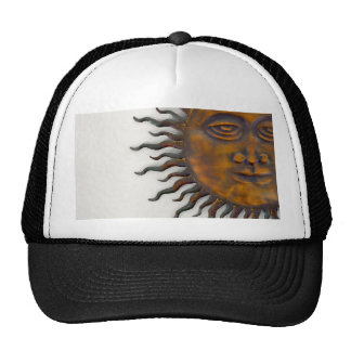 Half Sun Face Design Trucker Hat