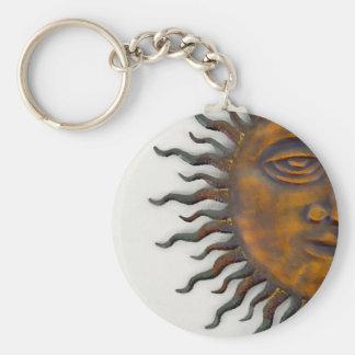 Half Sun Face Design Keychains