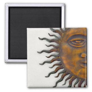 Half Sun Face Design Refrigerator Magnets
