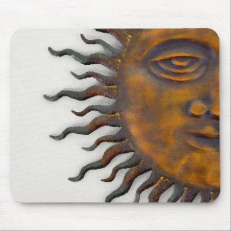 Half Sun Face Design Mouse Pad