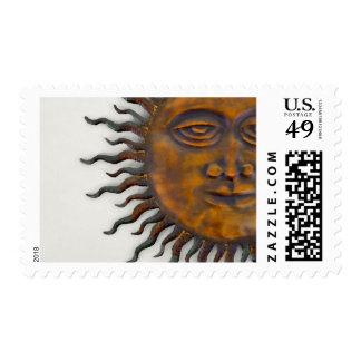 Half Sun Face Design Postage
