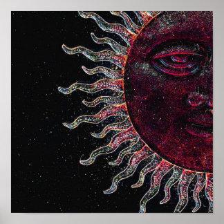 Half Sun Face Poster