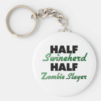 Half Swineherd Half Zombie Slayer Keychains