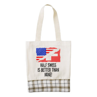 Half Swiss Is Better Than None Zazzle HEART Tote Bag