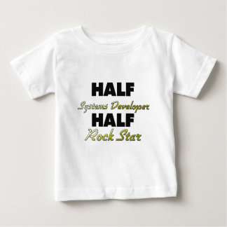 Half Systems Developer Half Rock Star T-shirt