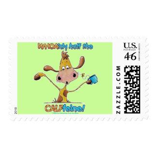 Half the CALFfeine Postage Stamps