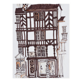 Half-timbered Building | Rennes, Brittany, France Postcard