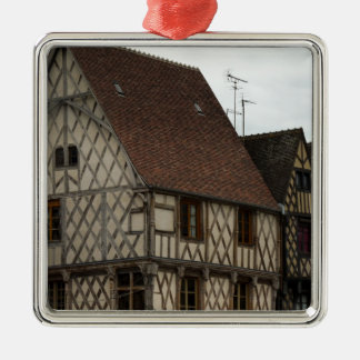 half-timbered house metal ornament