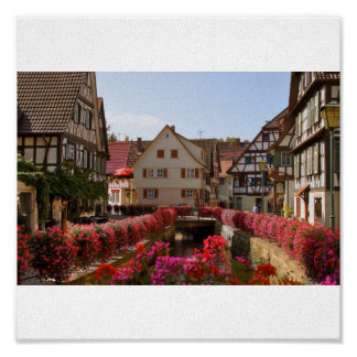 Half timbered houses in the Black Forest Poster