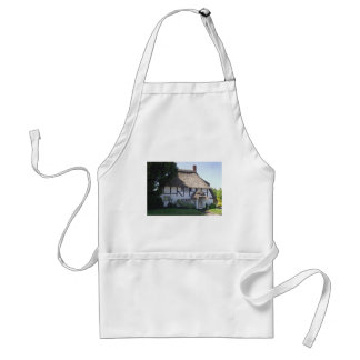 Half-Timbered Thatched Cottage Adult Apron