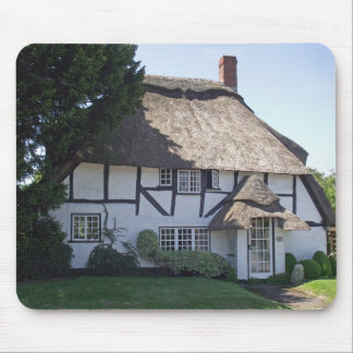 Half-Timbered Thatched Cottage Mousepads