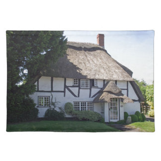 Half-Timbered Thatched Cottage Place Mat