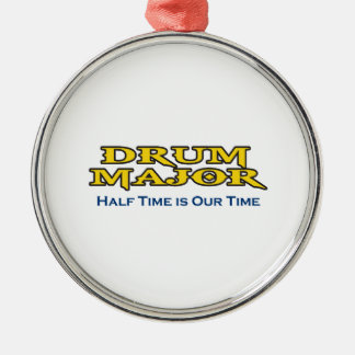 HALF TIME IS OUR TIME ROUND METAL CHRISTMAS ORNAMENT