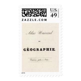 Half Title Atlas universel Asia Postage Stamp