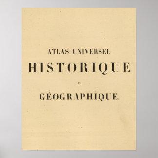 Half Title Atlas universel historique Poster