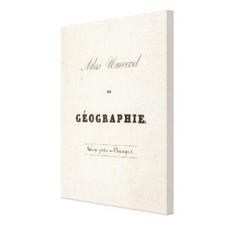 Half Title Atlas universel Oceania Canvas Print