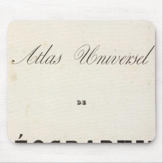 Half Title Atlas universel Oceania Mouse Pad