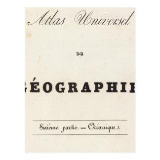 Half Title Atlas universel Oceania Postcard