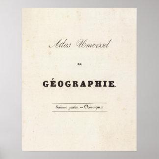 Half Title Atlas universel Oceania Poster