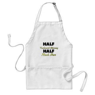 Half Trademark Attorney Half Rock Star Adult Apron