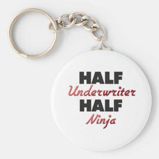 Half Underwriter Half Ninja Basic Round Button Keychain