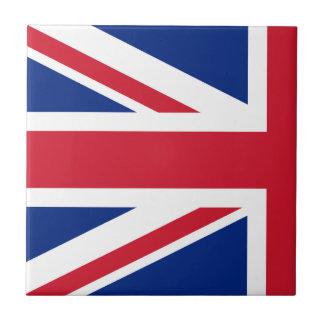 Half Union Jack Small Square Tile