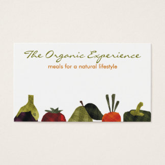 half veggies fruits cooking catering business c... business card