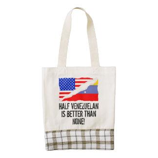 Half Venezuelan Is Better Than None Zazzle HEART Tote Bag