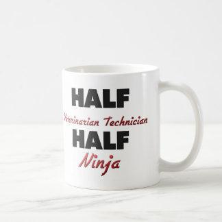 Half Veterinarian Technician Half Ninja Coffee Mug