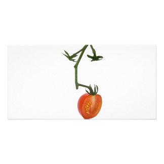 Half vine tomato personalized photo card
