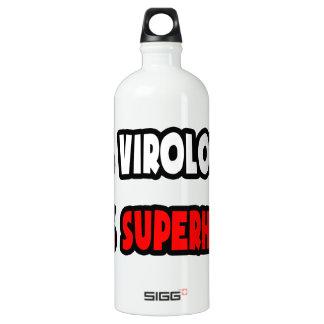 Half Virologist ... Half Superhero Water Bottle