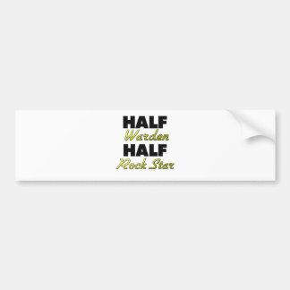 Half Warden Half Rock Star Bumper Stickers