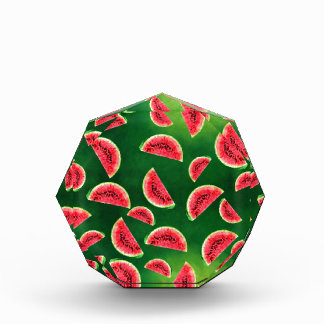 half watermelon illustration in triangle pattern award