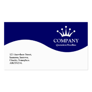 Half Wave Crown - Dark Blue Double-Sided Standard Business Cards (Pack Of 100)