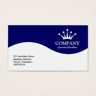 Half Wave Crown - Dark Blue Business Card
