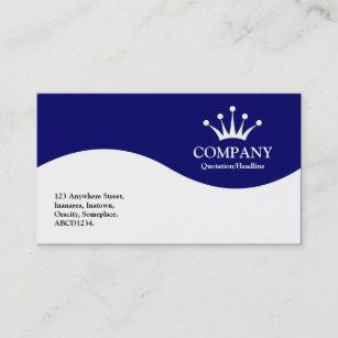 Half business cards zazzle half wave crown dark blue business card colourmoves