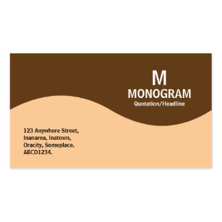 Half Wave Monogram - Sand with Brown 633D18 Business Card