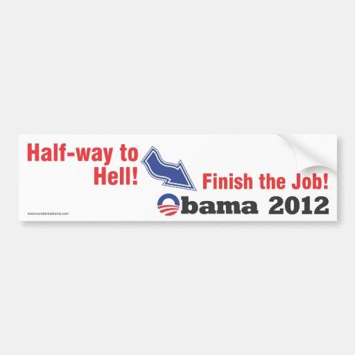 Half way to Hell anti-obama bumper sticker