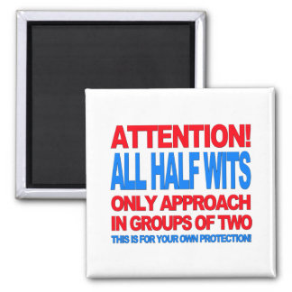Half Wits 2 Inch Square Magnet