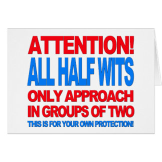 Half Wits Card