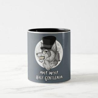 Half-Wolf Half-Gentleman 11 oz Two-Tone Mug