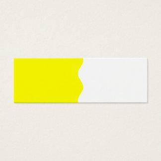 Half Yellow Mini Business Card
