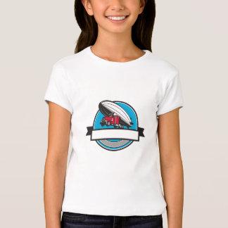 Half Zeppelin Blimp Half Semi-Truck Flying Overhea T-Shirt