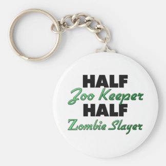 Half Zoo Keeper Half Zombie Slayer Keychain