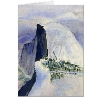Halfdome from Glacier Point,  Yosemite Card