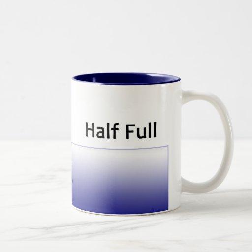halfFull-rt, halfFull-lft Two-Tone Coffee Mug